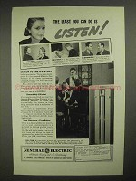1938 General Electric Gas Furnace Ad - Listen