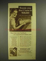 1935 Scott ScotTowels Paper Towels Ad - Don't Wash