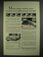 1931 Simmons Mattress Ad - Motion Cameras Prove