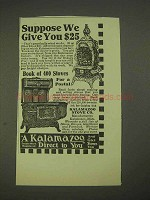 1913 Kalamazoo Stove Ad - Suppose We Give You