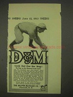 1913 Draper-Maynard D&M Baseball Equipment Ad