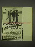 1913 Winslow Ice Skates Ad - Kite Ice Skating