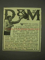 1913 Draper-Maynard D&M Boxing Striking Bag Ad