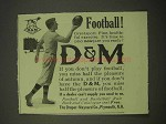 1913 Draper-Maynard D&M Football Ad