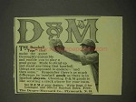 1913 Draper-Maynard D&M Baseball Equipment Ad - Togs