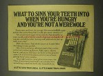 1975 Slim Jim Smoked Beef Snacks Ad - Werewolf