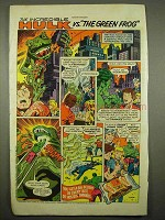 1976 Hostess Twinkies Ad - Incredible Hulk, Green Frog