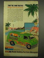 1976 Monogram Snap-Tite Van Model Ad - Vanana Split