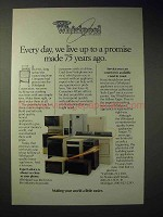 1986 Whirlpool Appliance Ad - Promise Made 75 Years Ago