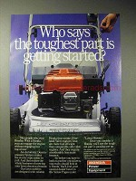 1986 Honda Lawn Mower Ad - Getting Started