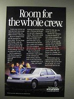 1988 Hyundai Sonata Car Ad - Room for Whole Crew