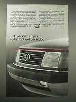 1988 Audi Car Ad - An Option You'll Never Ask For