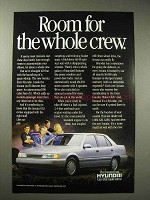 1989 Hyundai Sonata GLS Car Ad - Room for Crew