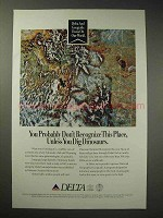 1993 Delta Airlines Ad - Dig Dinosaurs