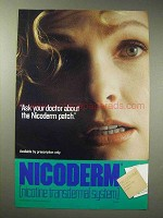 1993 Nicoderm Patch Ad - Ask Your Doctor