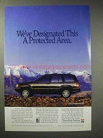 1993 Jeep Grand Cherokee Limited Ad - Protected Area