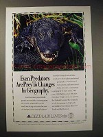 1994 Delta Airlines Ad - Predators are Prey to Changes
