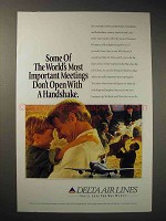 1994 Delta Airlines Ad - Don't Open With a Handshake