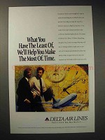 1994 Delta Airlines Ad - Make The Most of Time
