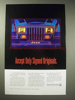 1994 Jeep Wrangler Ad - Accept Only Signed Originals