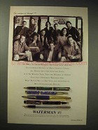 1995 Waterman Pen Ad - The Writers of Friends