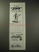 1995 NordicTrack Exercise Machine Ad - No Reason Not To
