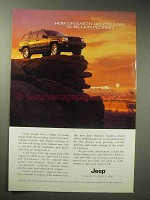 1995 Jeep Grand Cherokee Limited Ad - Lose People