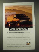 1995 Chevy Astro LT Minivan Ad - Home Away from Home