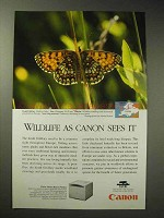 1997 Canon C LBP 360PS Printer Ad - Heath Fritillary