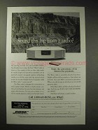 1998 Bose Wave Radio Ad - Sound This Big?