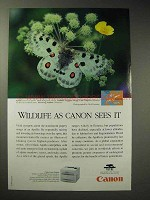 1999 Canon C LBP 460PS Printer Ad - Apollo butterfly