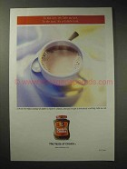 2001 Taster's Choice Coffee Ad - Cafe au Lait