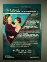 2001 GlaxoSmithKline Avandia Ad - Take Care of Diabetes