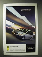 2001 Chrysler Voyager Ad - A Free First-Class Upgrade