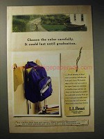 2002 L.L. Bean Deluxe Book Pack Ad - Choose Carefully
