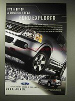 2003 Ford Explorer Ad - A Bit of a Control Freak