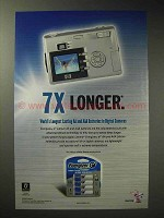 2004 Energizer E2 Lithium Batteries Ad - 7x Longer