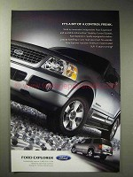 2004 Ford Explorer Ad - Bit of a Control Freak