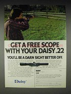 1980 Daisy 922 Rifle Ad - Get A Scope