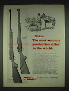 1970 Sako Carbine, Sporter Rifle Ad - Most Accurate