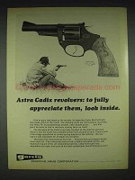 1970 Astra Cadix Revolver Ad - Fully Appreciate Them