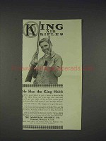 1913 King Air Rifle, Pop Gun Ad - He Has King Habit