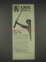 1913 King Air Rifle Ad - Off for a Happy Day
