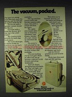 1972 Hoover Superportable Vacuum Cleaner Ad