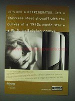 2000 Kenmore Elite Curved Silhouette Refrigerator Ad