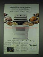 1997 Whirlpool AccuBake Range Ad - Cook Evenly