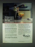 1988 Whirlpool Washer and Dryer Ad - Loads of Choices