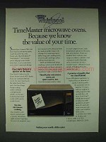 1986 Whirlpool TimeMaster Microwave Oven Ad