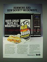 1985 Kenmore Auto Recipe 300 Microwave Oven Ad - Bounty