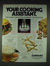 1985 Cuisinart Food Processor Ad - Cooking Assistant